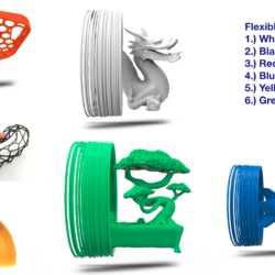 Premium Flexible 3D Filament (1.75mm)