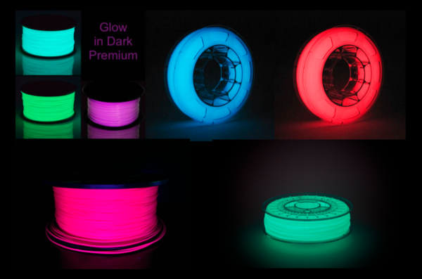 Premium Glow in Dark PLA 3D Filament (1.75mm)